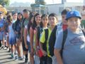 081816_MUSD_FIRSTDAY2: Bella Vista Elementary School students line up before school, ready to begin their first day of class. Montebello Unified, the third-largest school district in L.A. County, kicked off the 2016-17 school year on Aug. 18.
