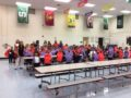 091316_BASSETT_BACKPACKS: Golden State Foods Foundation donated backpacks stuffed with school supplies to Don Julian Elementary School first graders.