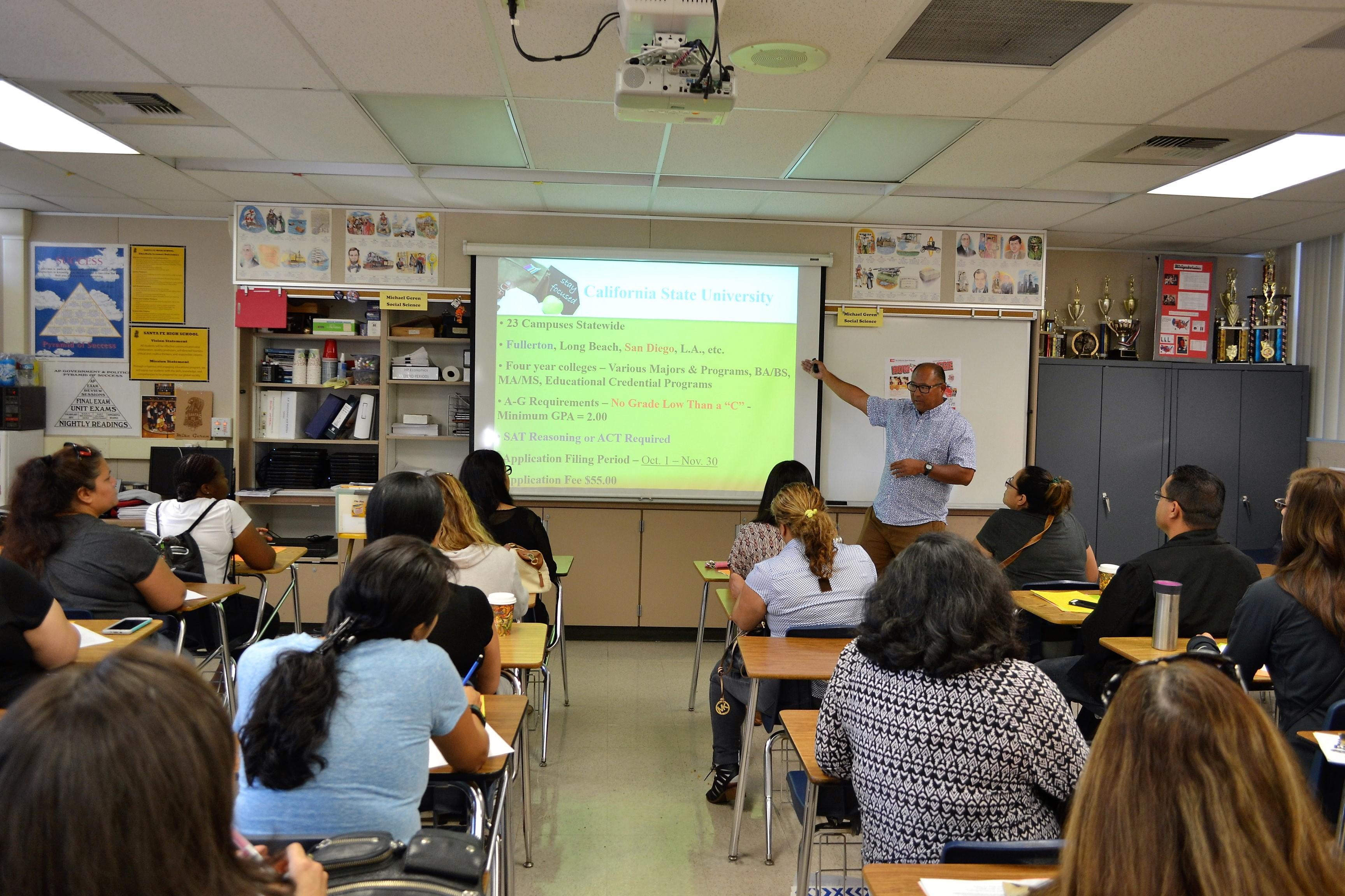 Santa Fe High Parents Explore Topics Impacting Teens California
