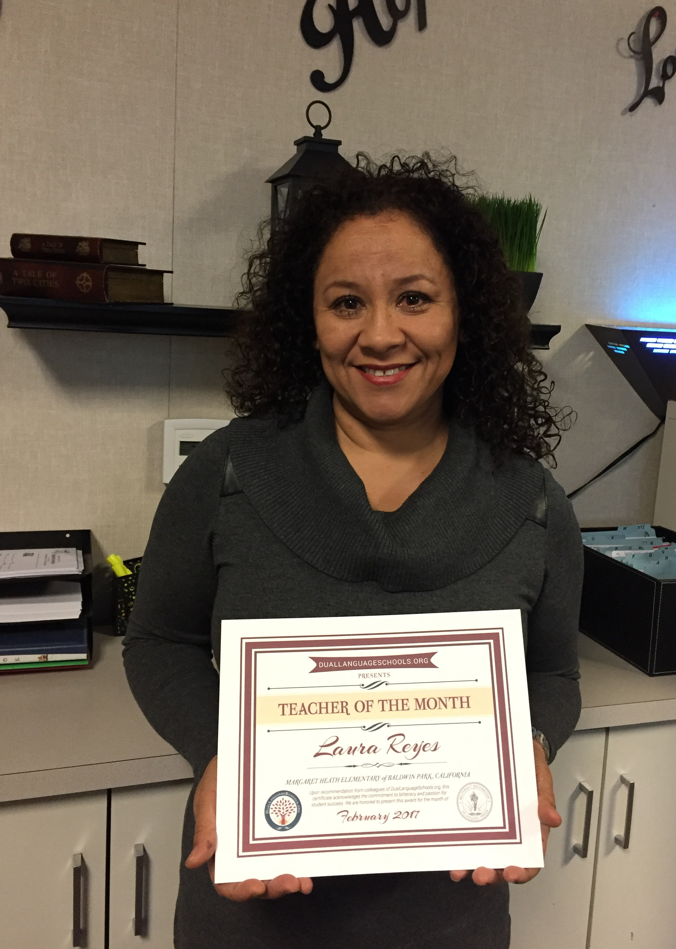 Baldwin Park Unified Elementary Dual Immersion Teacher Honored